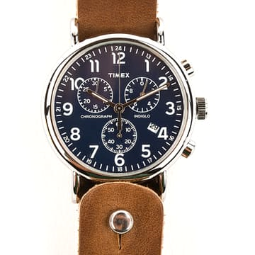 Does it get any better -- or more affordable -- than a Timex Weekender on a Horween leather strap? Not really.