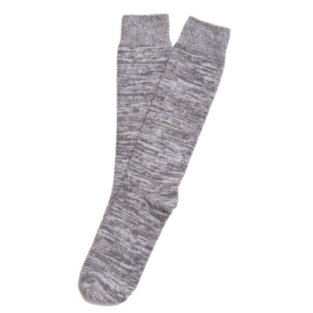 USA-made socks that offset the rest of this formal ensemble quite nicely.