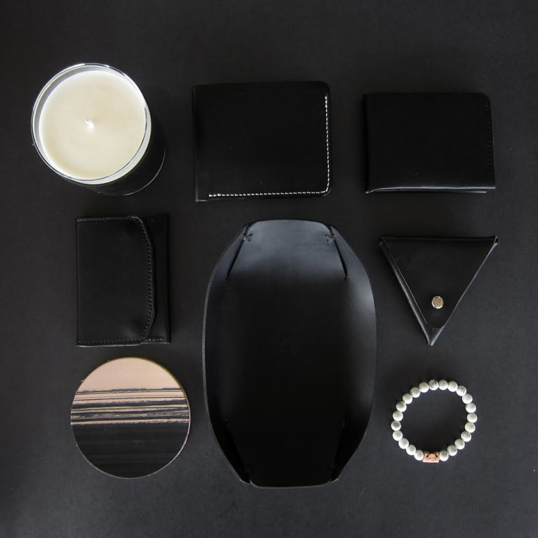 "A lineup of items from the brand's very sharp ""All-Black"" Collection. Photo courtesy of Friday & River."