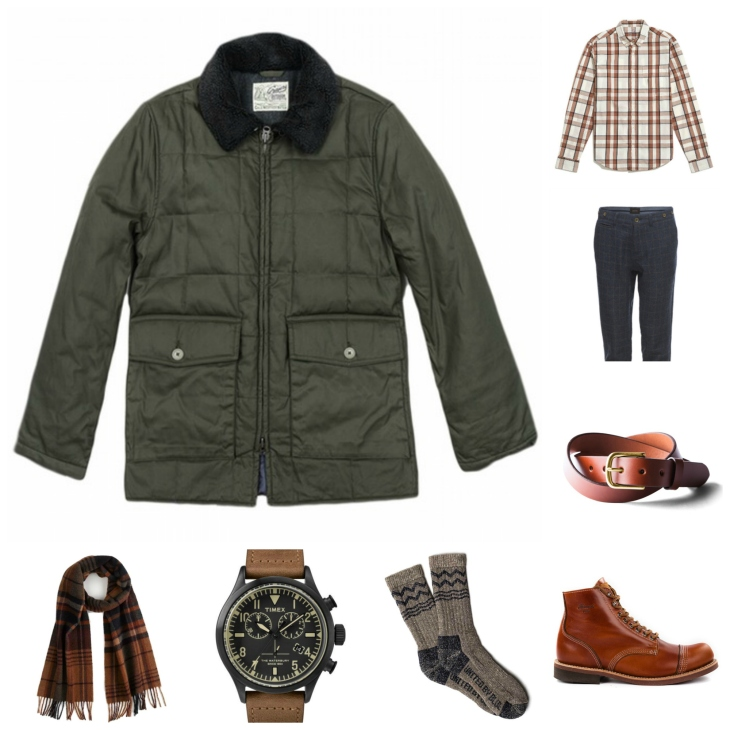 A mixture of rugged and refined pieces for winter layering.