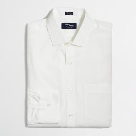 A crisp, clean white dress shirt for a great price.