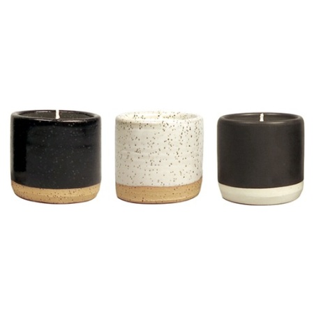 A masculine, subtly stylish candle set for the guy with an eye for design.