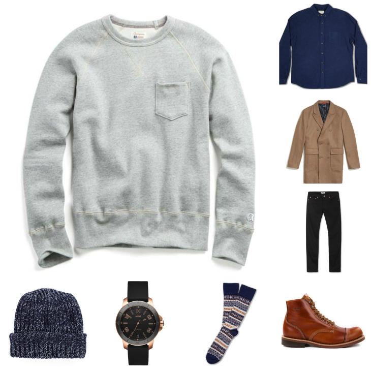 A high-low way to wear a crewneck sweater this winter. Not bad, ehh?