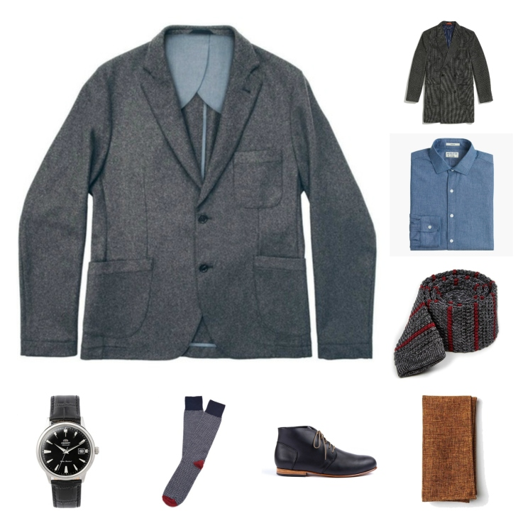 Winter textures and accessories make a fine cold-weather suiting combo.