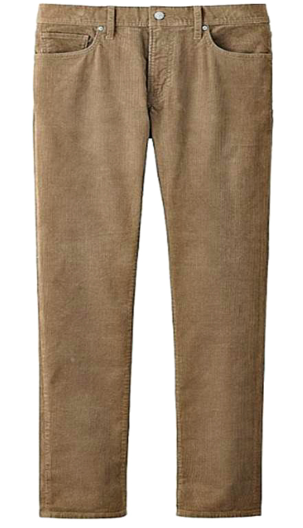 The comfort and warmth of sweatpants with the tapered cut of versatile corduroys.