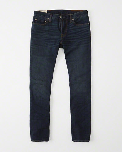 Slim-straight denim with a brushed-back interior for comfort and warmth.