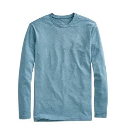 A surprisingly crisp long-sleeve tee comfortable for travel and layering.