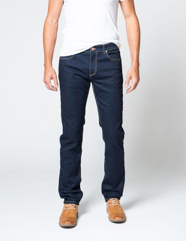 Dark, slim-fitting jeans with a ton of comfort and stretch -- as good as it gets.
