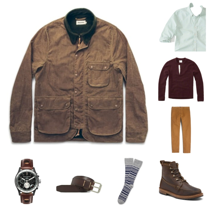 Starting with a classic Oxford and adding a tough jacket, warm layers and classic accessories.