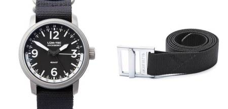 A handsome-as-heck watch and a tough belt -- the best you can do during a blizzard.