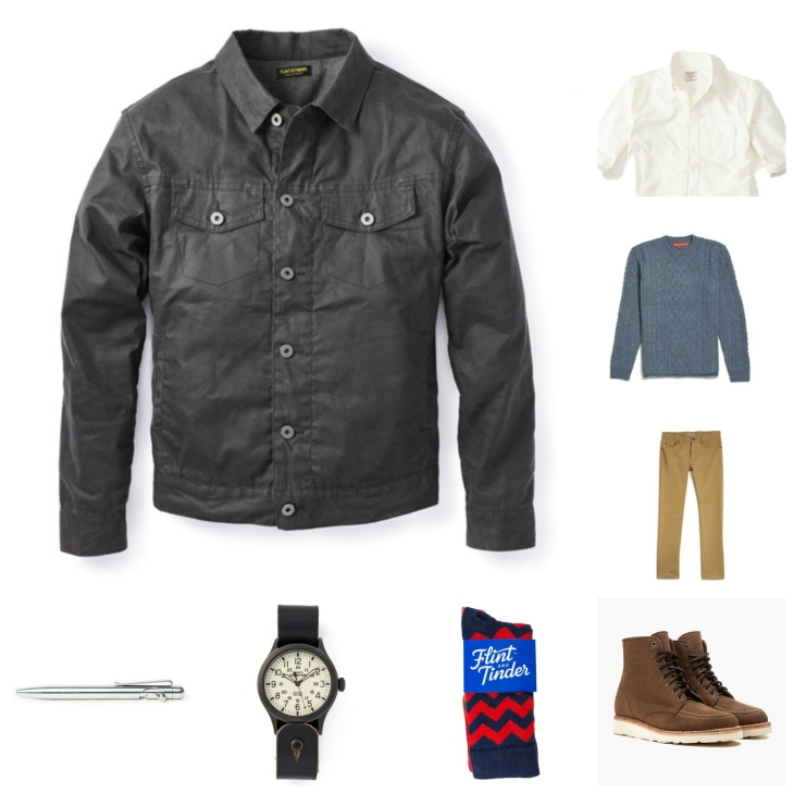 Mixing a heritage-quality jacket with a bit of rock-ready edge -- and classic menswear essentials, to boot.
