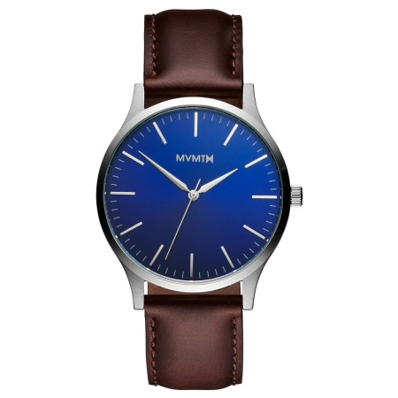 A clean watch with an eye-catching dial-and-strap combination.