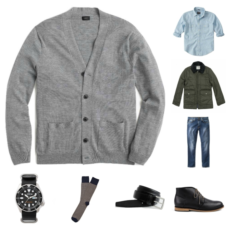 Shaking up the typical cardigan combo just enough to make it interesting this winter.