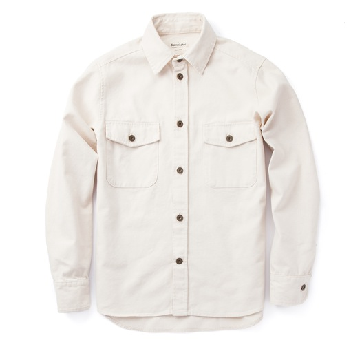 Tough brass buttons, a clean fit and sturdy fabric make this shirt a winner.
