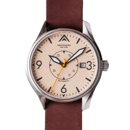 A revamp of the pilot's watch, with a tough leather strap for good measure.