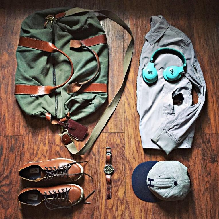 Men's travel style